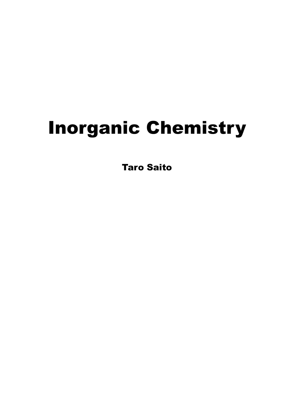 standard books on inorganic chemistry all bout chemistry inorganic chemistry by taro saito