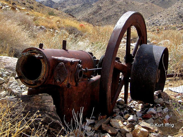 Among the large artifacts found at Contact Mine you'll find this old water pump.