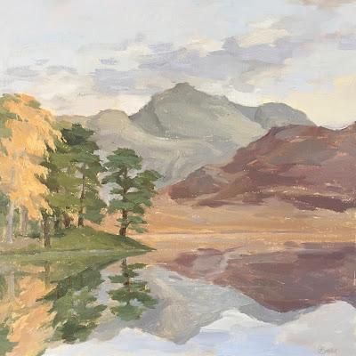 #140 Autumn Reflections, Blea Tarn 12×12″