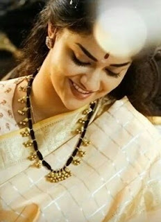 Keerthy Suresh in Saree with Cute and Awesome Lovely Chubby Cheeks Smile in Mahanati 2