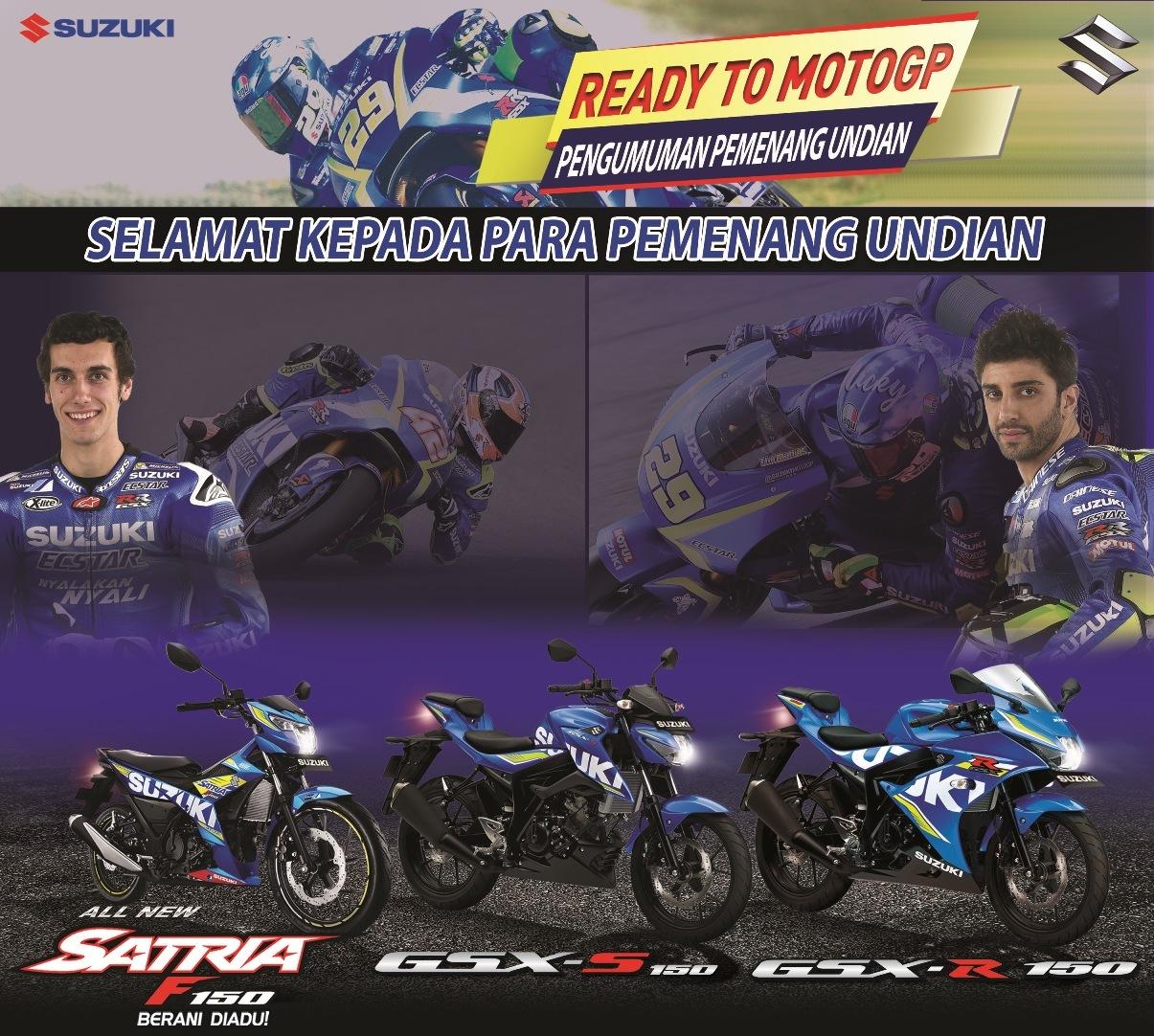 70 Konsumen Suzuki Beruntung Nonton MotoGP di Sepang