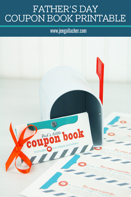 Father's Day Coupon Book printable by Jen Gallacher from www.jengallacher.com. #fathersday #dadprintable #couponbookprintable