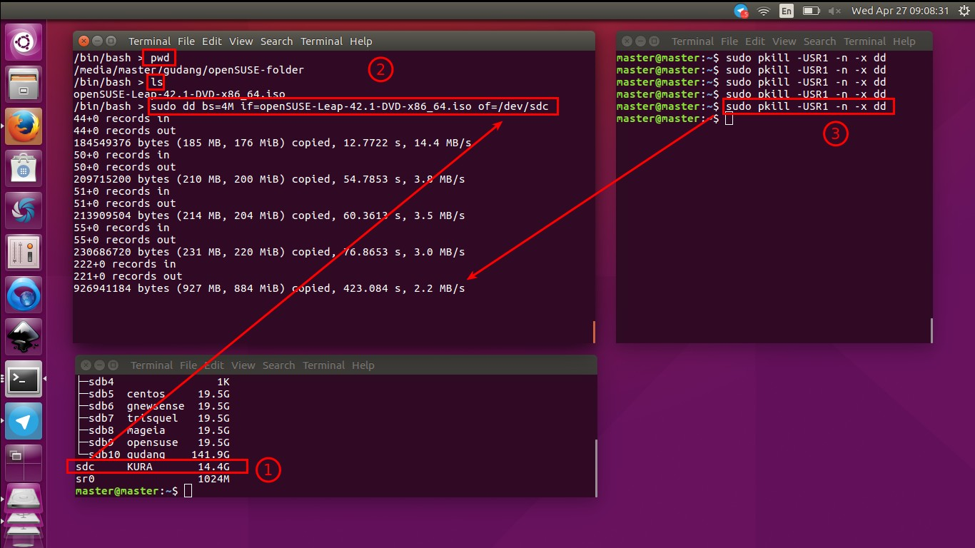 How To Write openSUSE Image to USB Drive in Ubuntu
