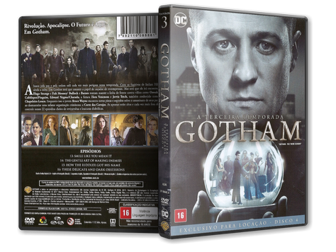 Capa DVD Gotham - Terceira Temporada - Disco 4