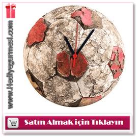 Futbol Topu Cam Duvar Saati