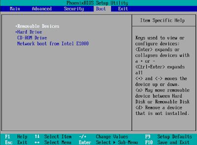 Setting BIOS agar Booting dari Flashdisk - Windows