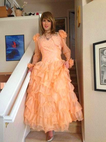 Crossdresser with evening dress