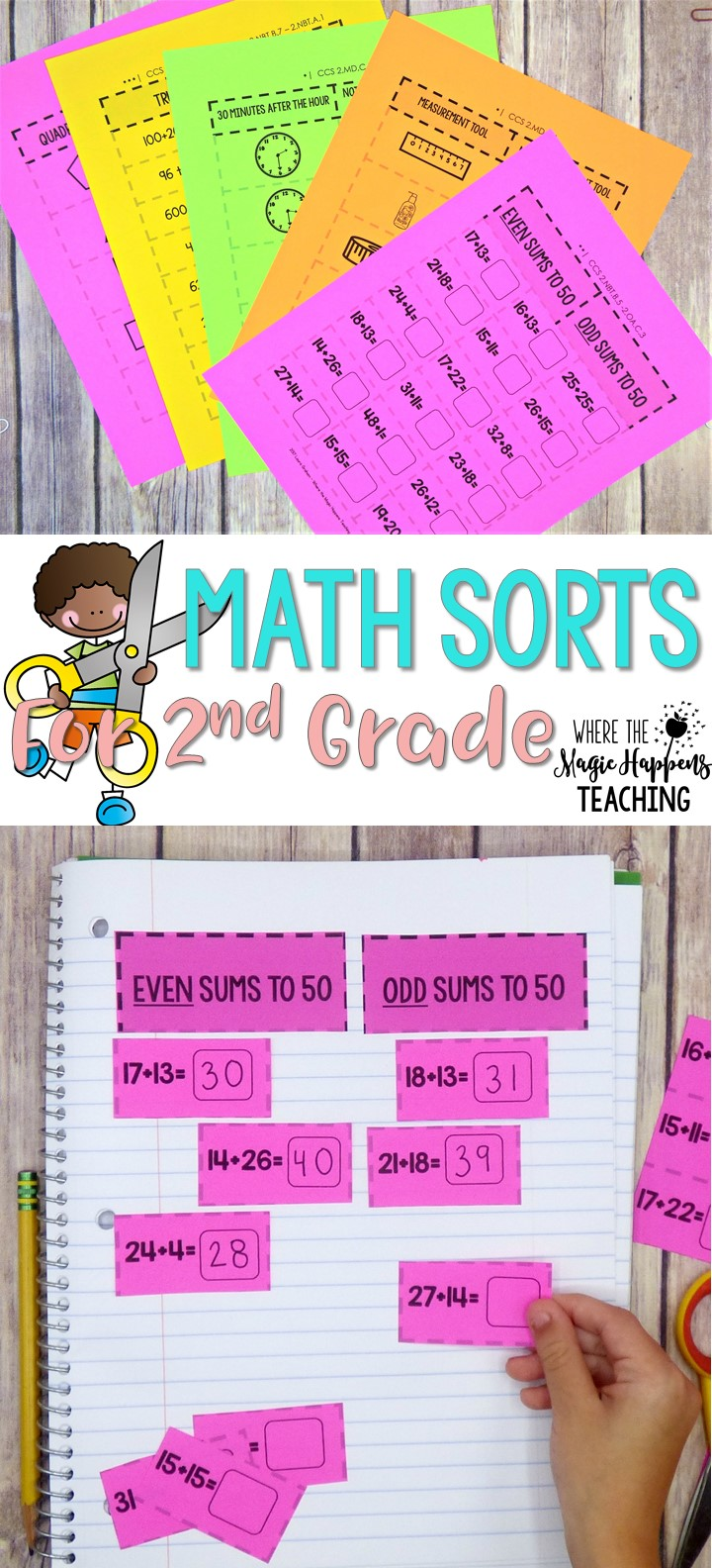 hight resolution of Math Sorts for 2nd Grade - Where the Magic Happens