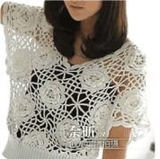 Blusa flores a Crochet