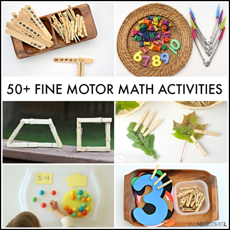 50+ Fine Motor Math Activities for Kids {Fine Motor Fridays} | And ...