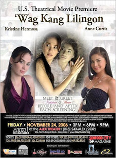 Wag Kang Lilingon is a 2006 Filipino Supernatural horror film produced by Star Cinema and Viva Films starring Anne Curtis and Kristine Hermosa.