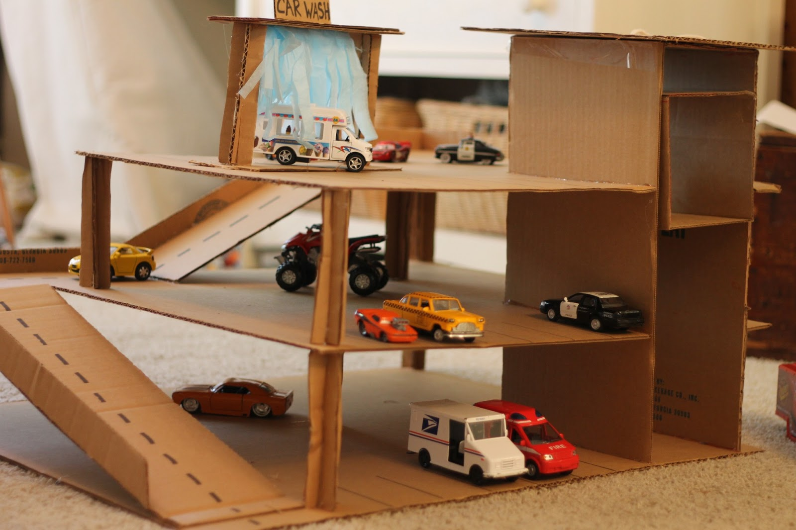 building a new garage ideas - All Things Reintjes A Little Cardboard Constructing