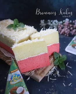 Resep Brownies Kukus Strawberry Keju By @ernie_varianiva