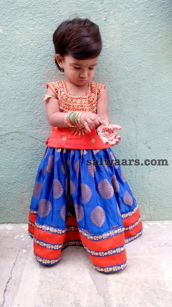 Birthday Baby in Benaras Lehenga