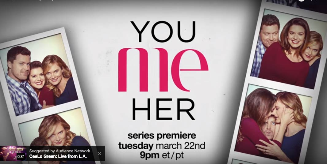 tv shows 2016 comedy. you me her title screen tv shows 2016 comedy