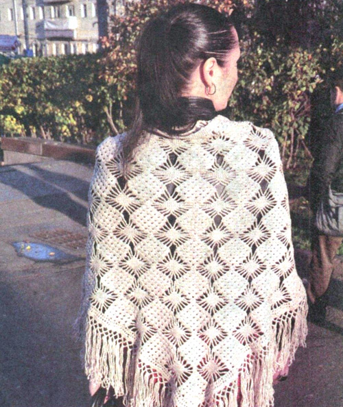 Knit crochet Shawl