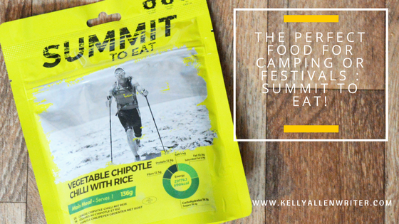 Yellow pouch with 'Summit to Eat' on top plus Title.