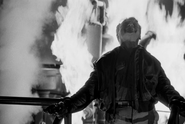 James Cagney delivers his famous 'Made it, Ma! Top of the world!' monologue in Raoul Walsh's White Heat