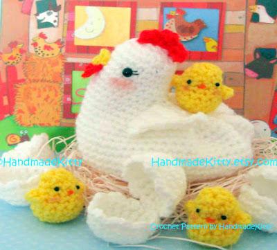 Amvabe Crochet Easter Chick Chicken Crochet Pattern Roundup