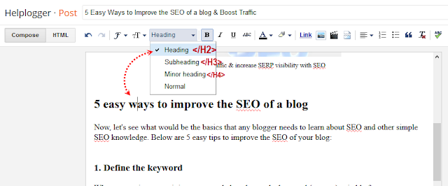 use keyword in h2 tags