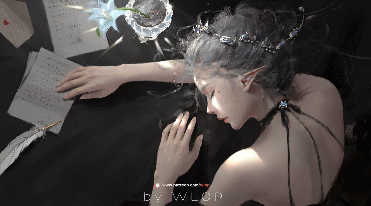 Sưu tập tranh ảnh đẹp nhất của Wlop (Wang Ling) | PHẦN 2