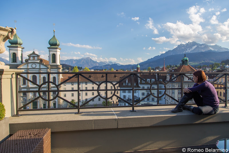 Hotel des Balances Room Balcony Two Days in Lucerne Luzern Switzerland