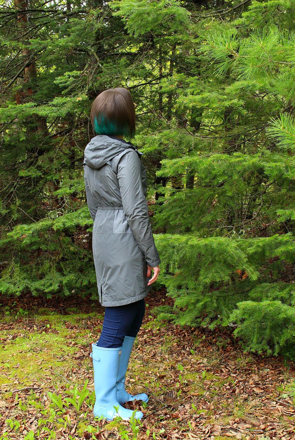Modern Rain Coat with Flattering Fit