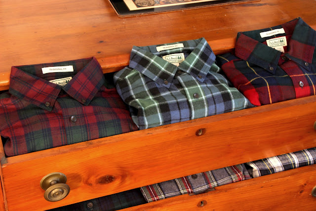 f968f14bdee560 Fall 2016 L.L. Bean Scotch Plaid Flannel Shirts for Men Include From Left  to Right  Lindsay