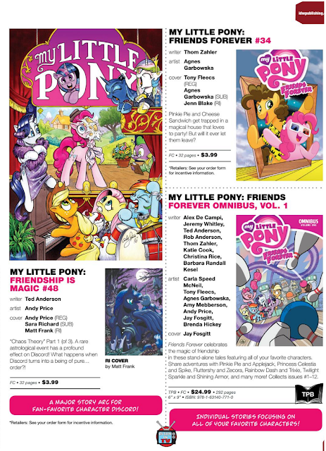 Friendship is Magic comic #48 and Friends Forever #34 Revealed