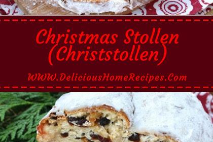 Christmas Stollen (Christstollen) #christmas #dinner