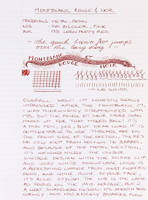 Montblanc Heritage Rouge et Noir fountain pen review