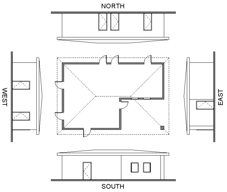 N Home Plan And Elevation : Revit templateer