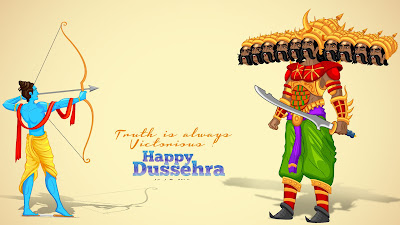 Happy Vijaya Dashami Dussehra 2017 HD Wallpaper