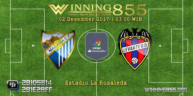 Prediksi Akurat Malaga vs Levante 02 Desember 2017