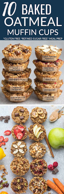 Baked Oatmeal Cups - 10 Ways