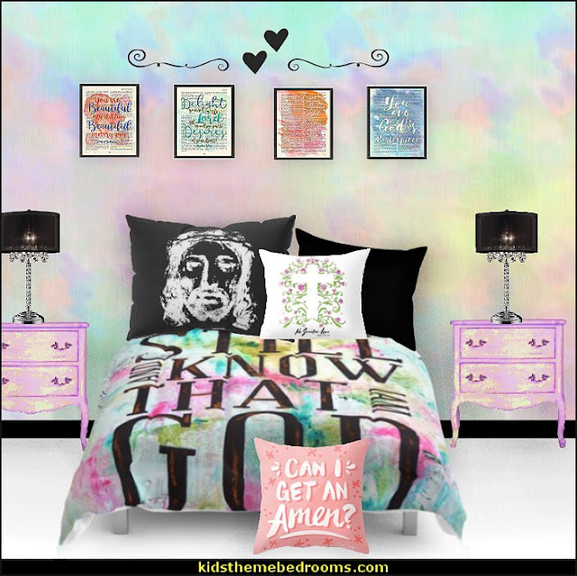 Psalm bedding - christian bedding  Scripture throw pillows jesus bedroom theme  Jesus for kids - Bible Stories wall murals - Christian Bible Verse wall decal stickers - Christian home decor - bible verse wall art -  Christian kids toys - Lion and Lamb toddler beds -  bible stories for kids - Christening Baptism Gifts - Psalm bedding - Scripture throw pillows - bible verse throw pillows