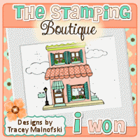 I won The Stamping Boutique challenge