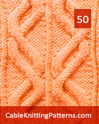 Cable Panel 50 -Free Pattern. Skill level: Advanced knitter and up
