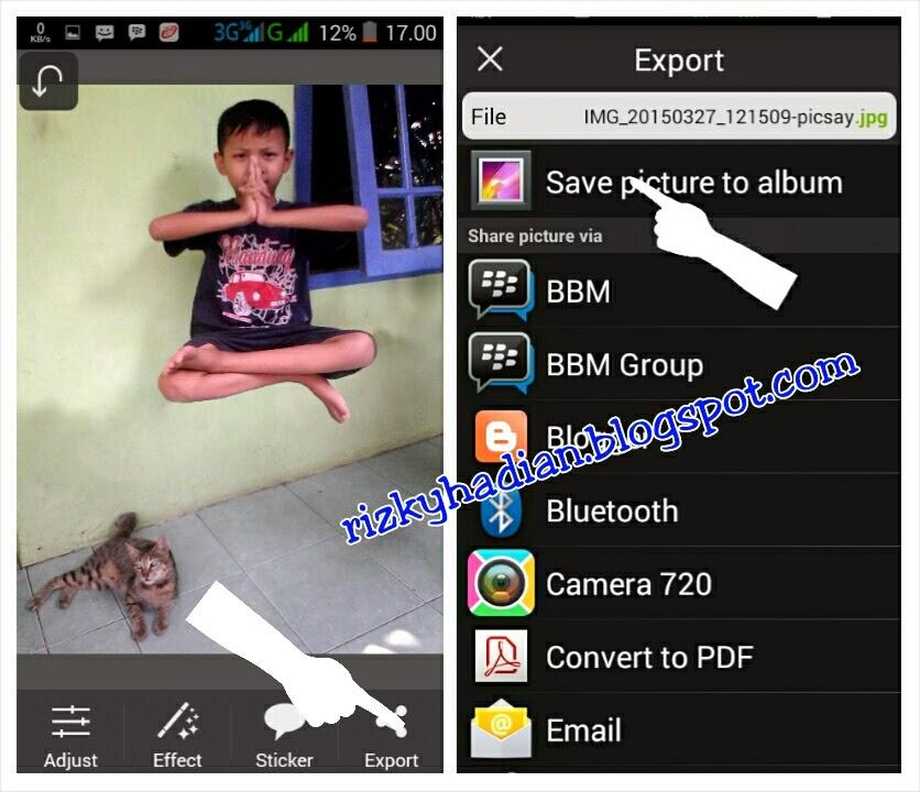 Tutorial Edit Foto Levitasi/Melayang Menggunakan HP Android - 5