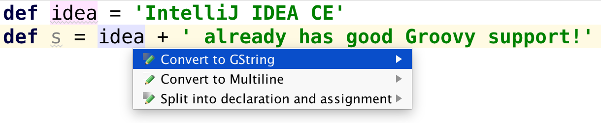 Groovy Goodness: IntelliJ IDEA Intentions For String Values