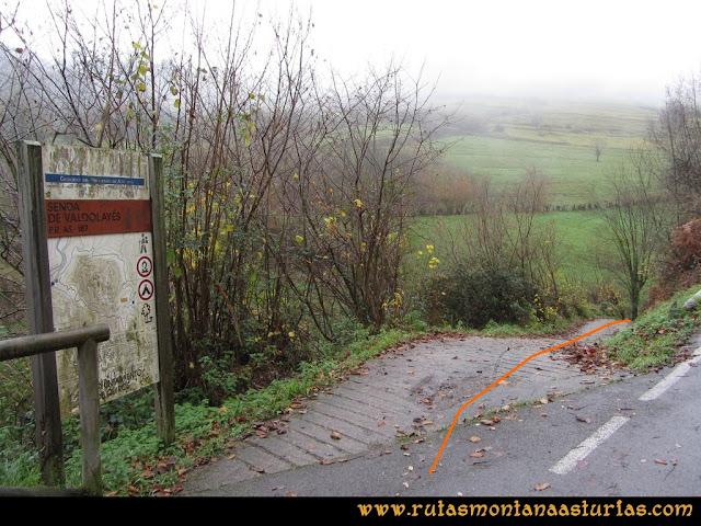 Ruta de las Xanas y Senda de Valdolayés: Inicio de la Senda de Valdolayés