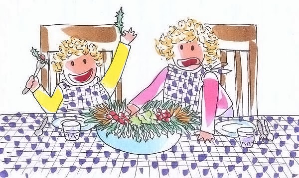 Tina y Leo aprenden a comer ensalada