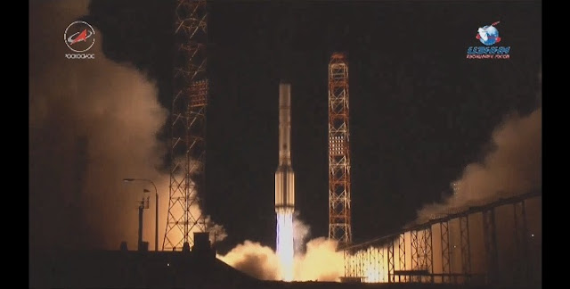 Proton-M launch with AsiaSat 9. Credit: Roscosmos