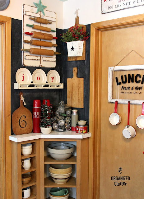 Farmhouse Christmas Kitchen Displays organizedclutter.net