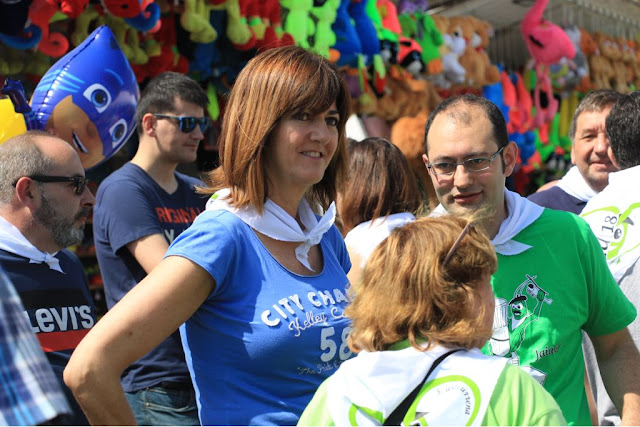 Idoia Mendia (PSE) en la fiestas de Cruces