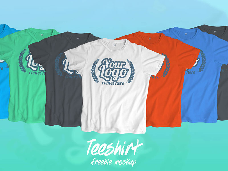 Clouds T-Shirt Mockup