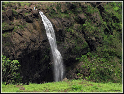Madhe Ghat waterfall from another mountain