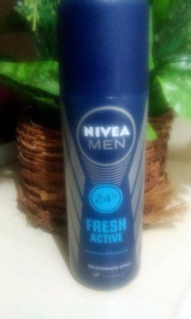 Achegue-se! Comprei e não gostei: Desodorante spray Fresh Active 48h - Nivea men