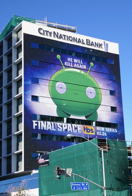 Giant Final Space series premiere billboard
