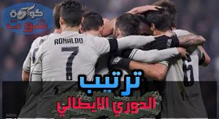 ترتيب الدوري الإيطالي بعد فوز يوفنتوس ضد فروسينوني
